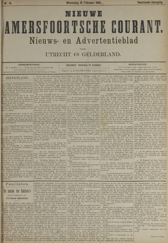 Nieuwe Amersfoortsche Courant 1885-02-18