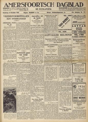 Amersfoortsch Dagblad / De Eemlander 1935-12-12