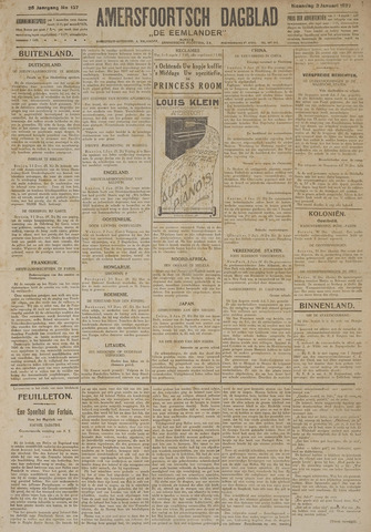 Amersfoortsch Dagblad / De Eemlander 1927-01-03