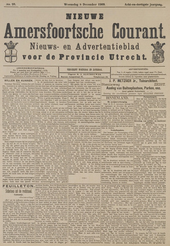 Nieuwe Amersfoortsche Courant 1909-12-08