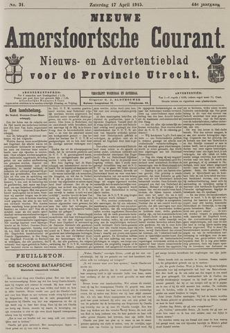 Nieuwe Amersfoortsche Courant 1915-04-17