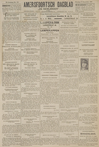 Amersfoortsch Dagblad / De Eemlander 1927-12-27