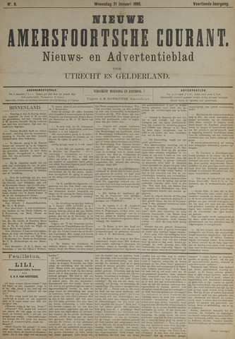 Nieuwe Amersfoortsche Courant 1885-01-21