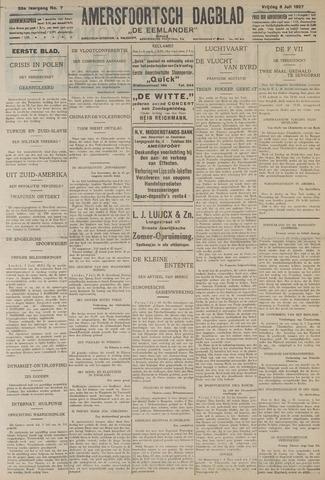 Amersfoortsch Dagblad / De Eemlander 1927-07-08