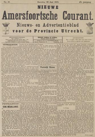 Nieuwe Amersfoortsche Courant 1918-06-22