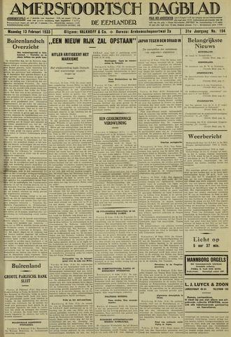 Amersfoortsch Dagblad / De Eemlander 1933-02-13