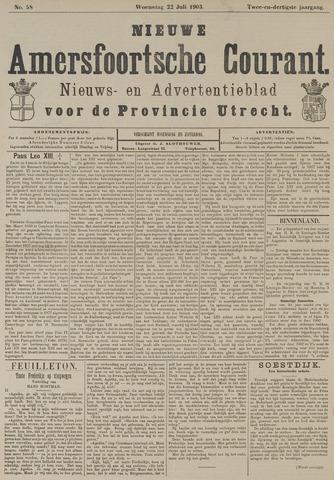 Nieuwe Amersfoortsche Courant 1903-07-22