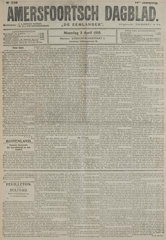 Amersfoortsch Dagblad / De Eemlander 1916-04-03