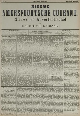 Nieuwe Amersfoortsche Courant 1885-04-11