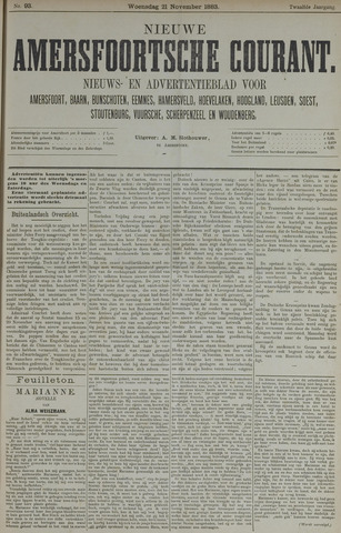 Nieuwe Amersfoortsche Courant 1883-11-21