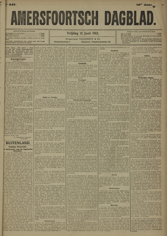 Amersfoortsch Dagblad 1912-06-21