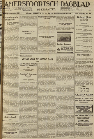 Amersfoortsch Dagblad / De Eemlander 1932-09-19