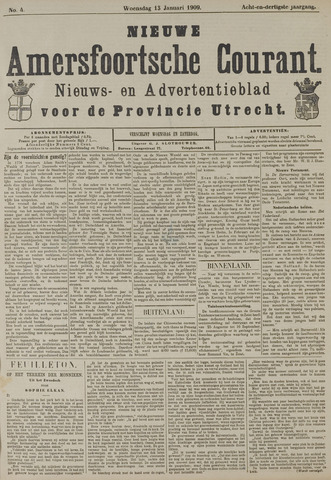 Nieuwe Amersfoortsche Courant 1909-01-13