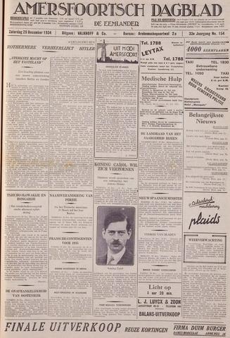 Amersfoortsch Dagblad / De Eemlander 1934-12-29