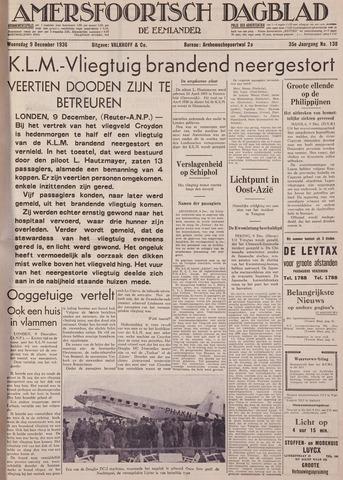 Amersfoortsch Dagblad / De Eemlander 1936-12-09