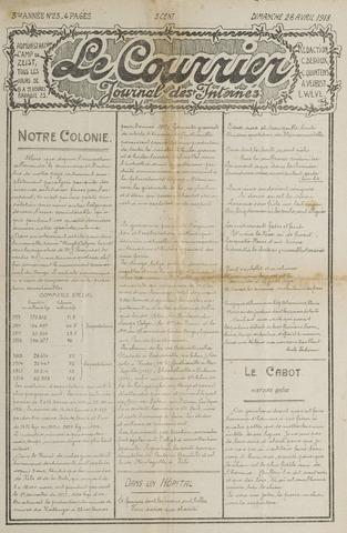 Le Courrier 1918-04-28