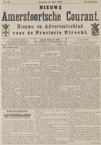 Nieuwe Amersfoortsche Courant 1916-04-15