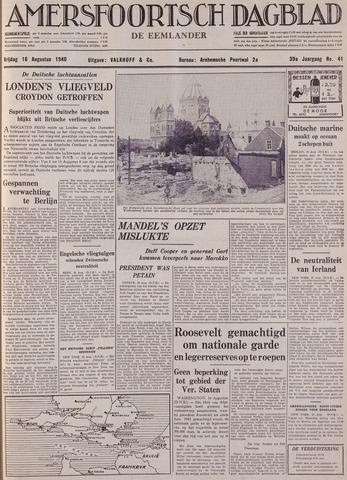 Amersfoortsch Dagblad / De Eemlander 1940-08-16