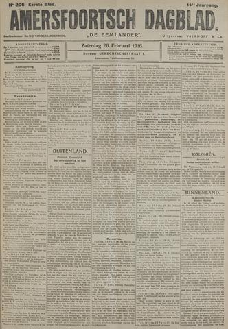 Amersfoortsch Dagblad / De Eemlander 1916-02-26