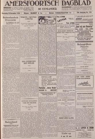 Amersfoortsch Dagblad / De Eemlander 1934-11-28