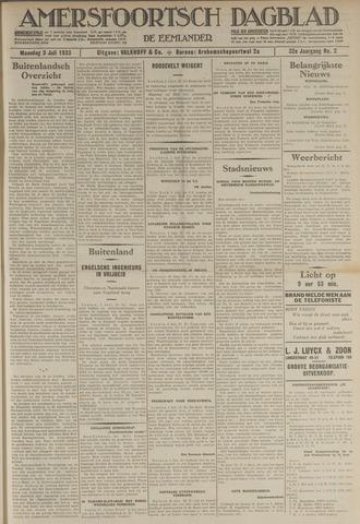 Amersfoortsch Dagblad / De Eemlander 1933-07-03