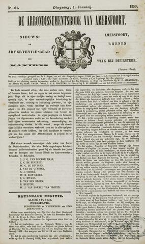 Arrondissementsbode van Amersfoort 1850-01-01
