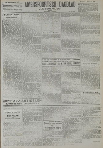 Amersfoortsch Dagblad / De Eemlander 1921-02-01