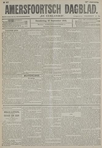 Amersfoortsch Dagblad / De Eemlander 1915-09-16