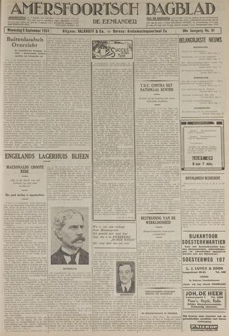 Amersfoortsch Dagblad / De Eemlander 1931-09-09