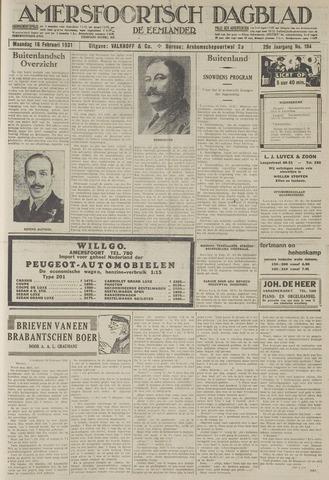 Amersfoortsch Dagblad / De Eemlander 1931-02-16