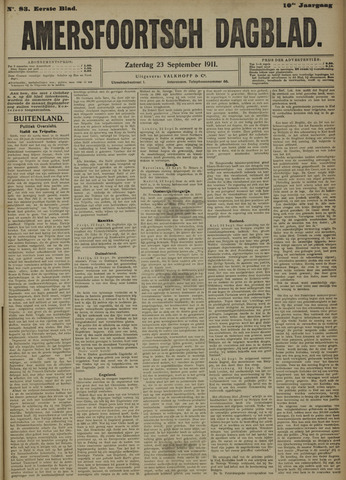 Amersfoortsch Dagblad 1911-09-23