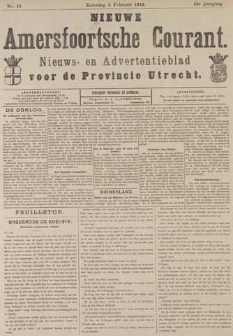 Nieuwe Amersfoortsche Courant 1916-02-05