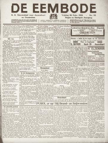 De Eembode 1926-02-26