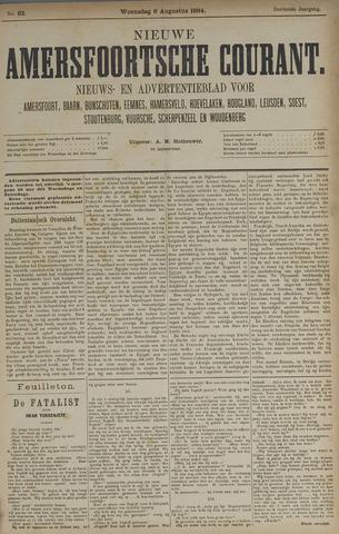 Nieuwe Amersfoortsche Courant 1884-08-06