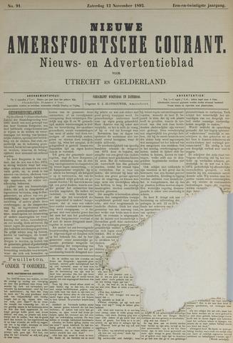 Nieuwe Amersfoortsche Courant 1892-11-12
