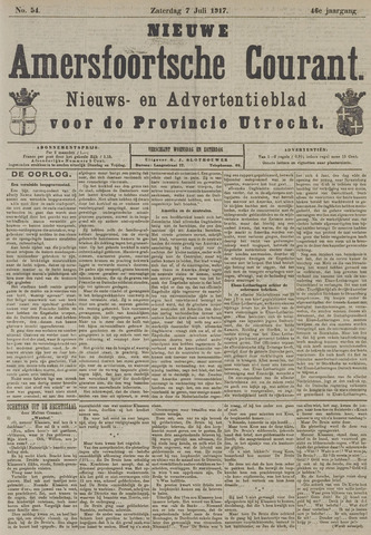 Nieuwe Amersfoortsche Courant 1917-07-07