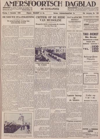 Amersfoortsch Dagblad / De Eemlander 1936-11-03