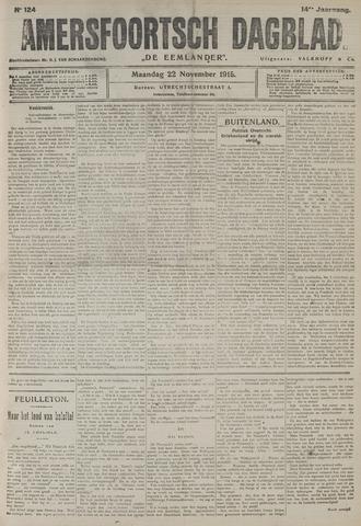 Amersfoortsch Dagblad / De Eemlander 1915-11-22