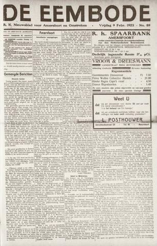 De Eembode 1923-02-09