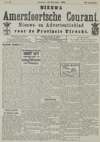 Nieuwe Amersfoortsche Courant 1920-11-13