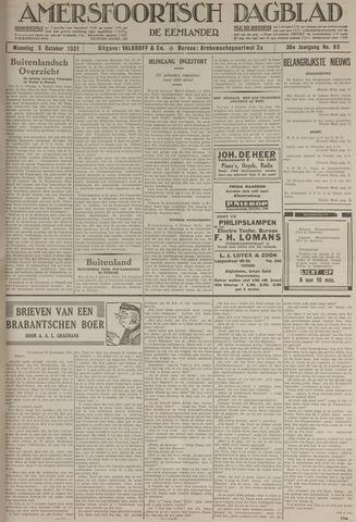 Amersfoortsch Dagblad / De Eemlander 1931-10-05