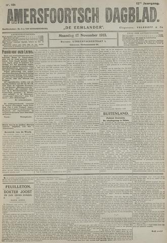 Amersfoortsch Dagblad / De Eemlander 1913-11-17