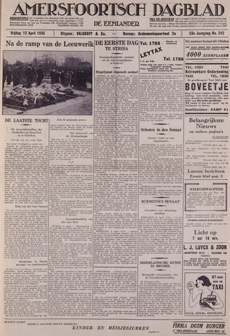 Amersfoortsch Dagblad / De Eemlander 1935-04-12