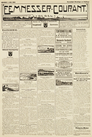 Eemnesser Courant 1924-07-04
