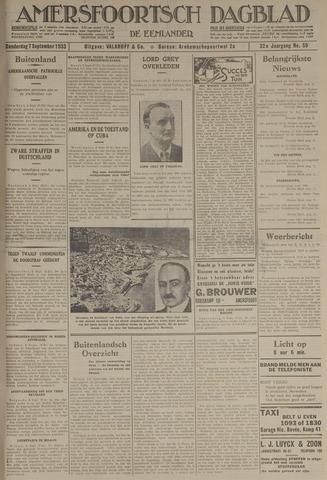 Amersfoortsch Dagblad / De Eemlander 1933-09-07