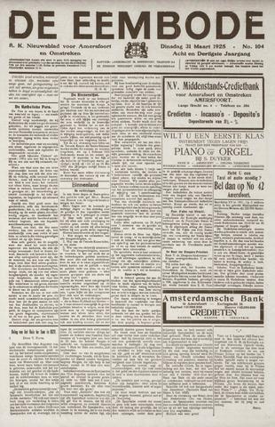 De Eembode 1925-03-31