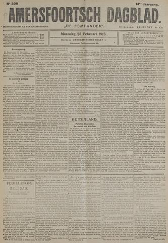 Amersfoortsch Dagblad / De Eemlander 1916-02-28