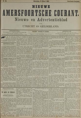 Nieuwe Amersfoortsche Courant 1885-03-25