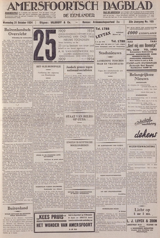 Amersfoortsch Dagblad / De Eemlander 1934-10-31