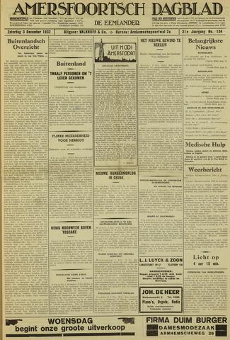 Amersfoortsch Dagblad / De Eemlander 1932-12-03